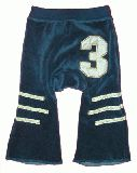 子供服 $A ベロアベビーボトム:ブルー 70cm