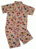 子供服 $A ★レトロなバンビちゃん パジャマ:ピンク 80・90cm