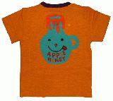 子供服 $A はちみつTシャツ:オレンジ 80cm