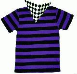 子供服 $△※●99★ボーダーTシャツ:パープル★120cm〜メンズサイズまであるよ