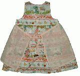 子供服 $A エプロン付きワンピース シロ 95cm