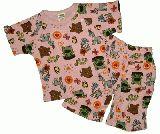 子供服 $A99 ★アニマルパジャマ ピンク 80cm