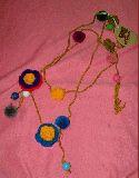 子供服 手編み お花チョーカー