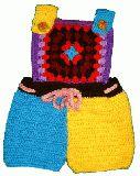 子供服 ◆TF 手編みモチーフホットオール100�p