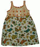 子供服 $A うさちゃん柄 ワンピース:ベージュ 90cm