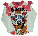 子供服 ●$88A ドット リボン付きロンT:ピンク 110cm