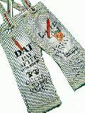 子供服 ●$88A サスペンダ付き ボトム:ヒッコリー 90cm