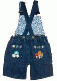 子供服 $ きのこ刺繍ショートオール