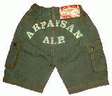 子供服 $A バックプリント ハーフパンツ 80・90・95cm