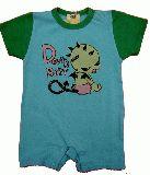 子供服 $A パンク デビルちゃんロンパース:グリーン 80cm