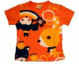 子供服 $A アニマルレインボーTシャツ:ピンク 90cm