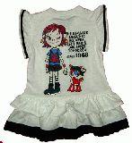 子供服 $A LOVE フリルタンクワンピース:シロ 90cm