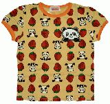 子供服 $A いちごパンダ Tシャツ:オレンジ 100cm