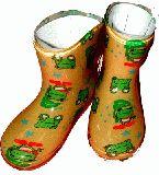 子供服 ●99ARF※ カエルの長靴:キイロ 13・14・15・・18cm
