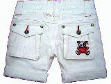 子供服 A$ ホットパンツ:ドクロベアー:シロ 100cm