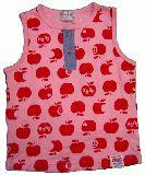 子供服 $A リンゴのタンクトップ:ピンク  90cm
