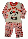 子供服 $A ★パンダちゃん パジャマ:ピンク 130cm