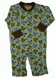 子供服 $88A カエルちゃん総柄ロンパース:アイボリー 70cm