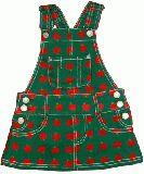子供服 $A リンゴ サロペットスカート グリーン 110〜120cm