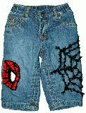 子供服 ♪FF$ 80cm スパイダーマン デニムパンツ