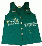 子供服 $A ドクロ:チュニック グリーン ・90・95・100・cm