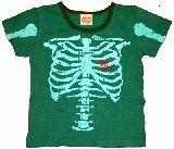 子供服 $A ホネホネなTシャツ:グリーン ・95cm