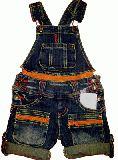 子供服 $A サロペット:オレンジファスナー 120cm