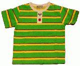 子供服 $A キミドリ×キイロ ボーダーTシャツ 95・100cm