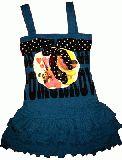 子供服 $ バンビちゃんリボン付き ワンピース:ブルー