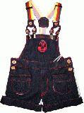 子供服 ●$88A プロレス マスクマンサロペット:濃い色 120cm