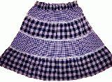 子供服 ◆$A チェック ティアードスカート 80・90cm