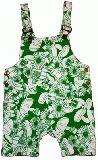 子供服 $A きのこ総柄 サロペット グリーン 120cm