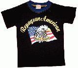 子供服 ▲$A ★星条旗 イーグル Tシャツ