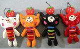子供服 ◆$14cm  くまちゃん人形ストラップ¥380
