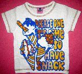 子供服 $ アイスクリームTシャツ:シロ ¥1500