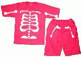 子供服 ●$99A ★ほねほね 上下セット パジャマにも・・・ピンク