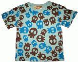 子供服 $A▲ かわいい ドクロ総柄Tシャツ:80・90・95・110・120cm