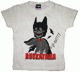 子供服 $A ドクロバットマン:Tシャツ:シロ 90・100・110cm