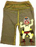 子供服 $A ビーズマスクマン ハーフパンツ グレー 80cm