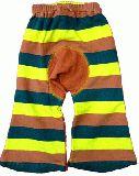 子供服 $A ボーダー ベビーボトム:チャイロ 70から110cm