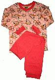 子供服 A★$レトロチェック うさちゃんパジャマ:長袖:長ズボン:80・95・100cm