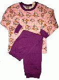 子供服 $88A★レトロチェック うさちゃんパジャマ:長袖:長ズボン:80・95・130cm