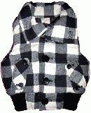 子供服 $A チェック:ベスト シロ 90・110cm