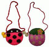 子供服 $ イチゴ&てんとう虫のポシェット