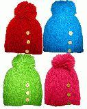 子供服 ●$RF●リブ編み ニットキャップ:ボタン付き 大人サイズ