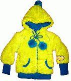 子供服 ●$88A★ポンポン付き モコモコジップアップパーカー 110cm