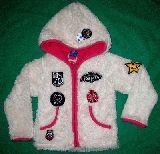 子供服 A99$ モケモケ バンビパーカージャケット:シロ