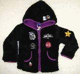子供服 $A モケモケ バンビパーカージャケット:クロ 100・110cm