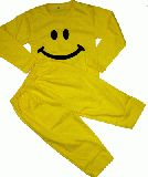 子供服 $★ャA★長袖&長ズボン パジャマ:スマイル ニコちゃん♪