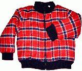 子供服 $A チェック ブルゾン:アカ 裏地シープボア 95cm・